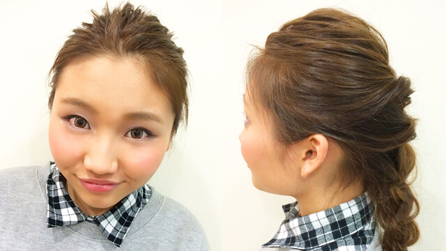くるりんぱヘアアレンジでナチュラル美人に!抜け感のあるまとめ髪の作り方