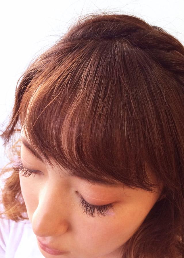 「アンニュイな儚げヘアアレンジ」の手順_3