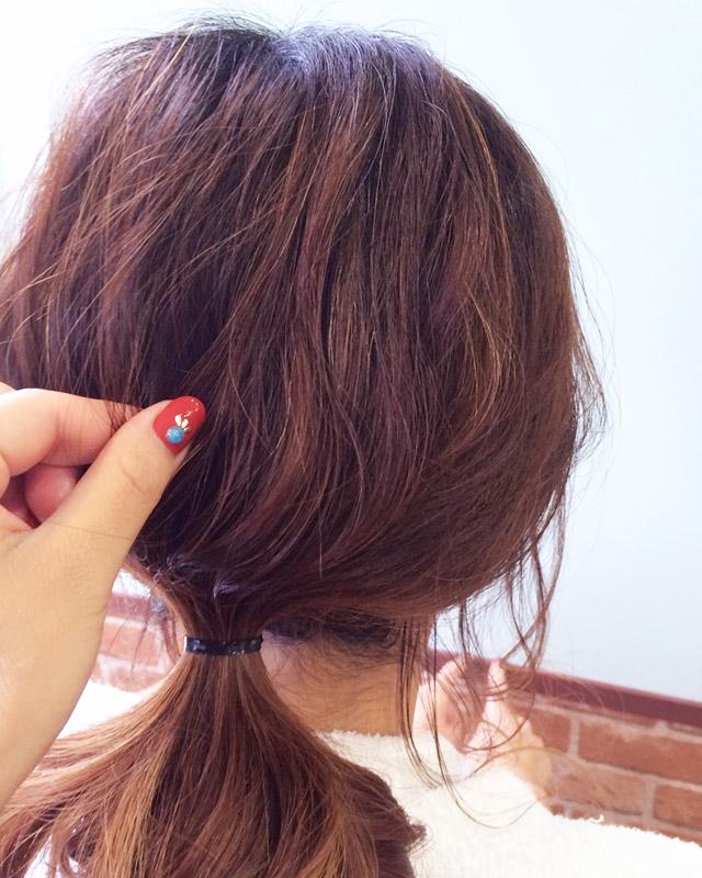 「魅惑の女っぽヘアアレンジ」の手順_3