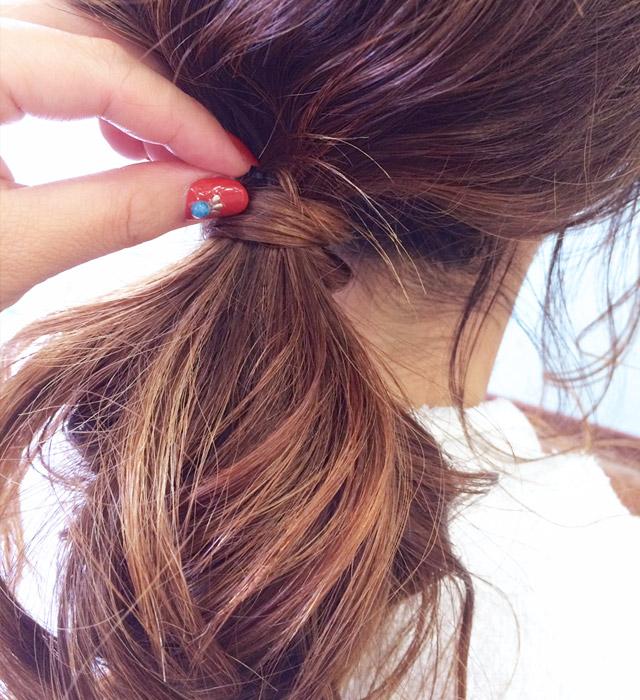 「魅惑の女っぽヘアアレンジ」の手順_4