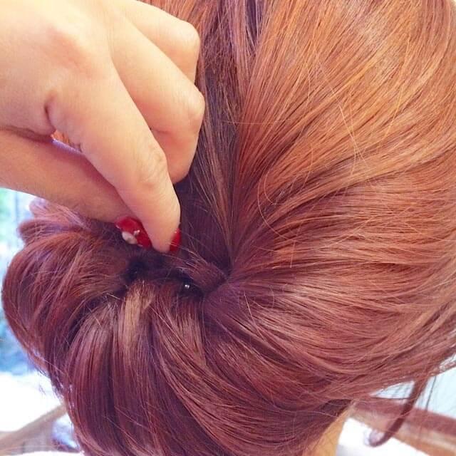「360度完璧なヘアアレンジ」の手順_3