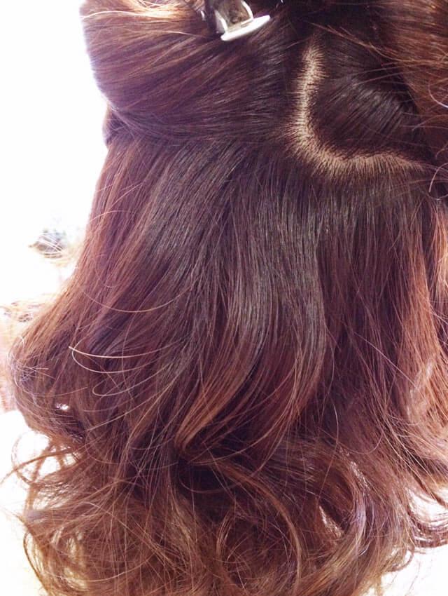 「ふわふわショートヘアアレンジ」の手順_1