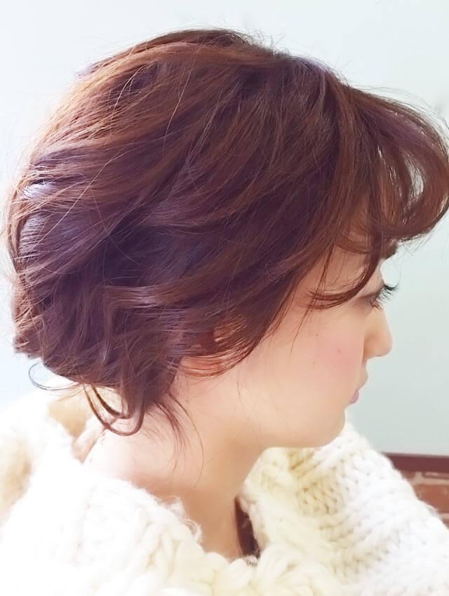 「ふわふわショートヘアアレンジ」の写真【サイド】