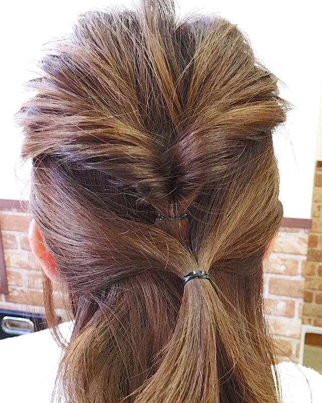 「結婚式・二次会に!自分で出来るパーティー用お呼ばれヘア」の手順_5