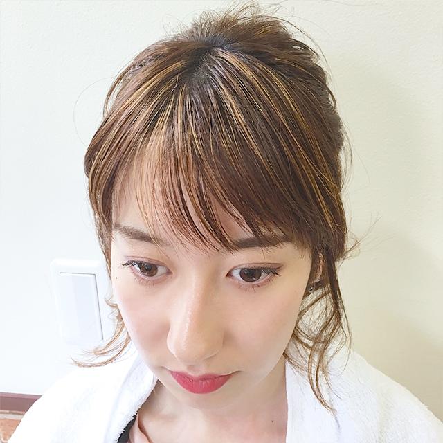 「日焼け対策ヘアアレンジ」の写真【正面】