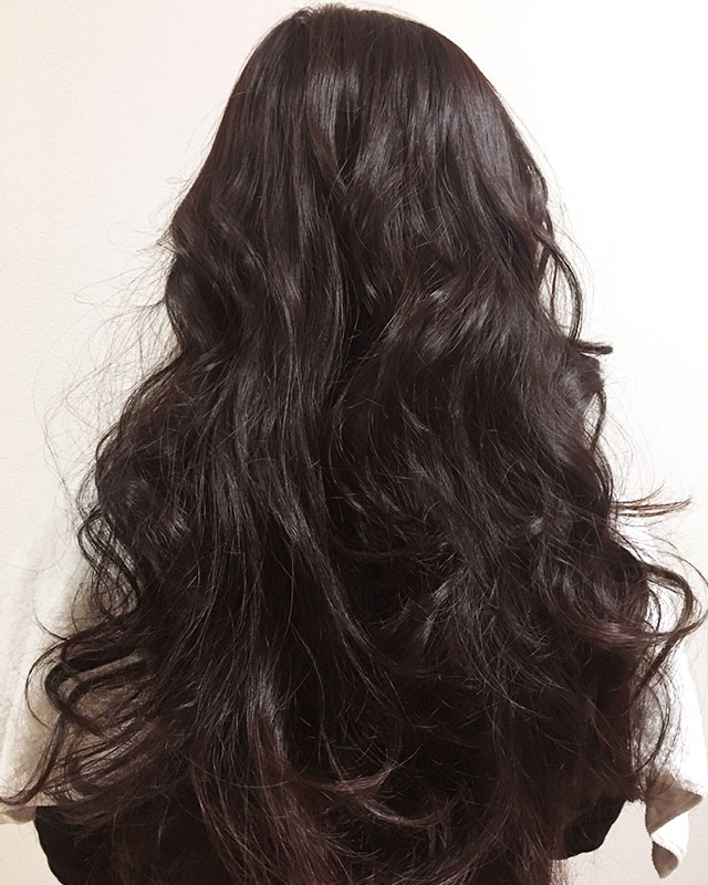 「おくれ毛が可愛いゆるアップスタイル」の手順_1