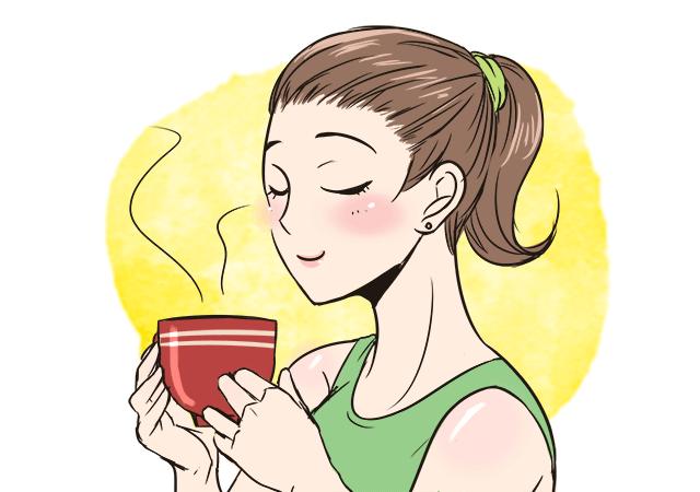 ①『朝食は毎朝砂糖入りの温かいカフェオレを1杯(200cc)飲む』
