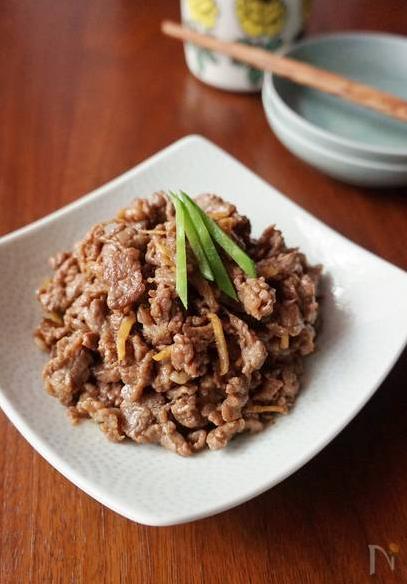 ⑩牛肉のしぐれ煮