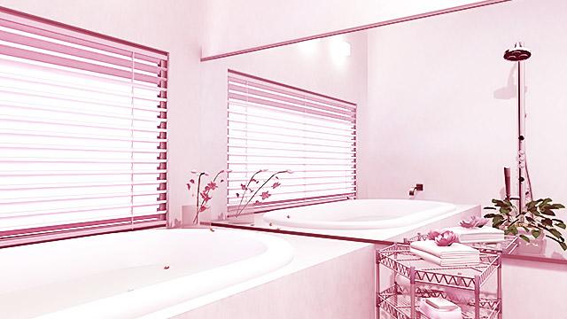 たまにはお風呂のグッズをピンクのもので揃えるのも良い