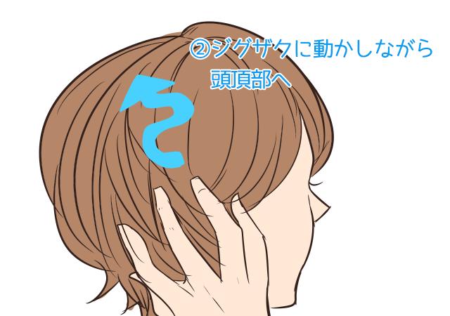 シャンプーの仕方を少し変えて、リフトアップで小顔効果_2