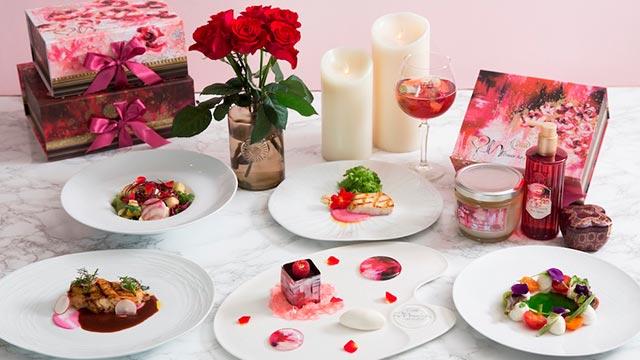 "SABONとコラボ♡ザ ストリングス 表参道のディナーコース""ROSE SPLASH""がバレンタインにぴったり♪"