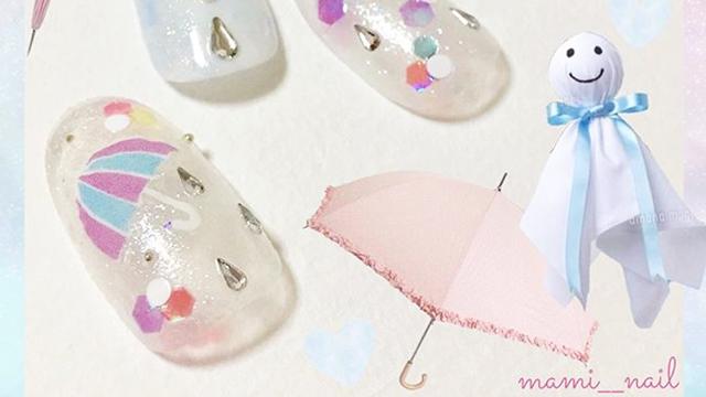 雨の日を楽しむ♪梅雨をイメージしたネイルデザイン特集