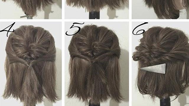 伸ばしかけヘア はアレンジで乗り切る ボブ ミディアムのためのヘア