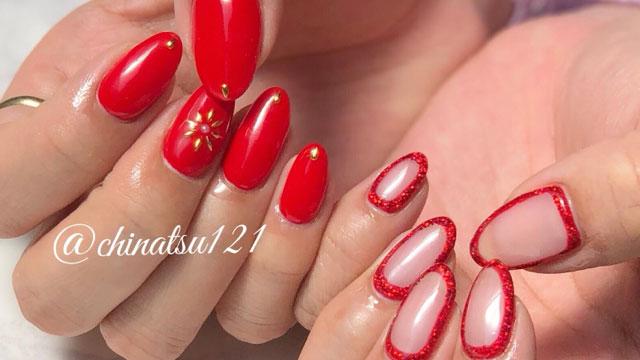 冬は赤が似合う!いい女度の上がるデザイン豊富な赤ネイル特集
