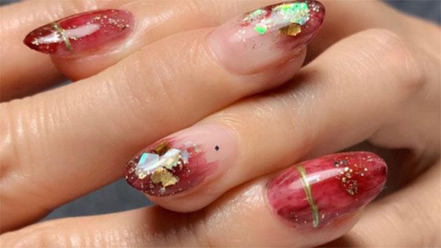 マーブルネイルでこなれ感のある指先をget♡大人カラーを使ったネイルデザイン特集