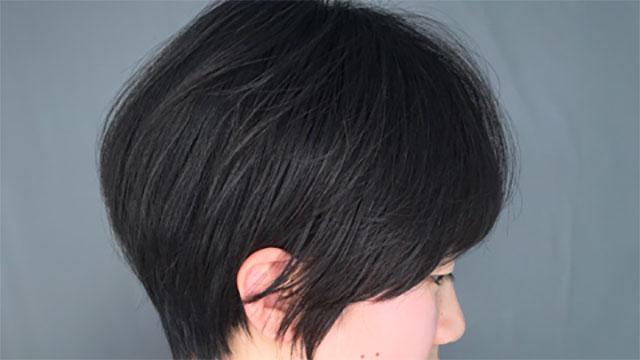 小顔効果のある暗髪ショート♡大人ショートヘア特集