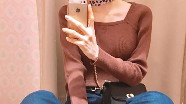 """チラッと肌見せで女子力アップ♡今期のトレンド""""スクエアネック""""コーデ特集!"""
