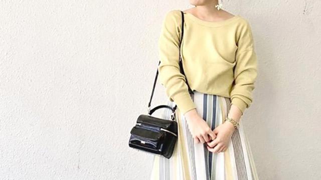 春はすぐそこ♡フレアスカートに春っぽいカラーを取り入れて♪