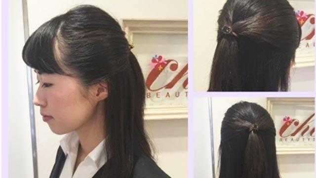 就活女子必見♪黒髪こそ似合うヘアアレンジと就活成功の秘訣!