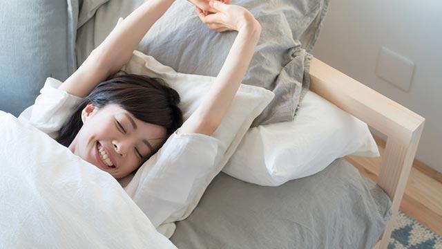 朝スッキリな目覚めで1日をHAPPYに♪就寝中の疲れ解消法