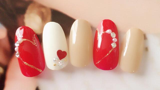 可愛さ満点♡バレンタインにぴったりのハートネイル10選