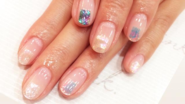 夏におすすめshell nail・オーロラネイル・雫nail・マーメイドネイル