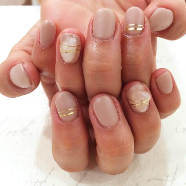 天然石nail