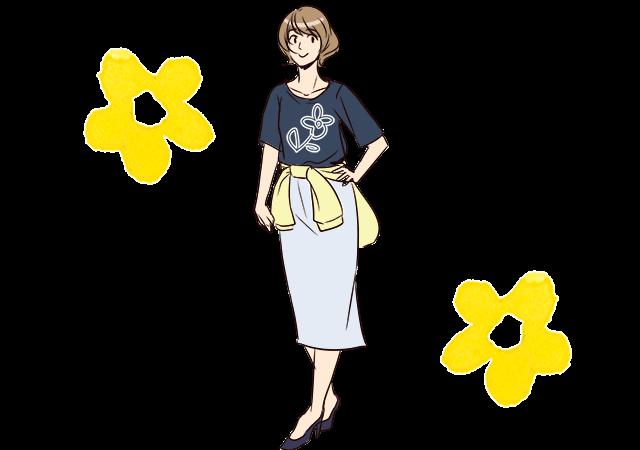 Tシャツ&ロングスカート