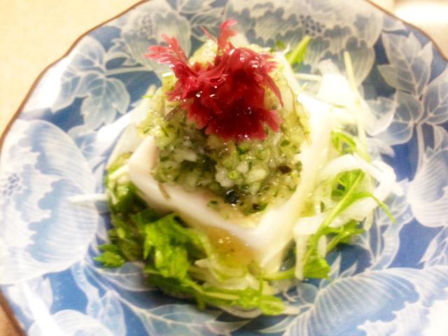 ぶっかけ風お豆腐サラダ