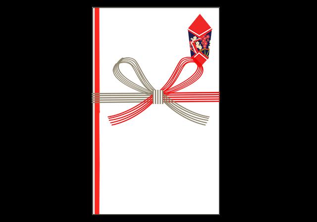 祝いのし「紅白蝶結び」