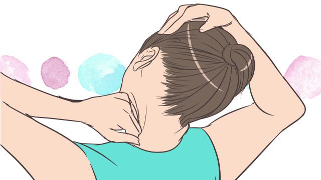 簡単にスッキリできる!手軽な首もとマッサージのやり方