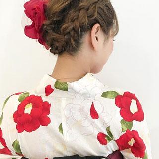 浴衣にぴったり♡セルフで出来る涼しげヘアスタイル6選