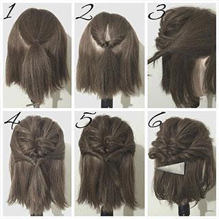 """""""伸ばしかけヘア""""はアレンジで乗り切る!ボブ~ミディアムのためのヘアアレンジ術"""