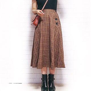 【GU】秋もプチプラ高見えコーデ♡大人可愛いチェックスカート特集