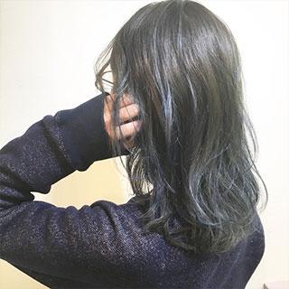 """きれいめヘアカラーなら""""ブルー""""がポイント♪オフィスOKの暗髪ヘア7選"""