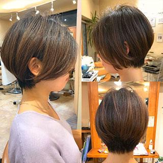 パーマ無しでもおしゃれ髪♡スタイリングも簡単なショートヘア特集