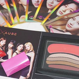 AUBEの人気時短シャドウがTWICEとコラボ♡メンバーがCMで使用したカラーをレビュー!