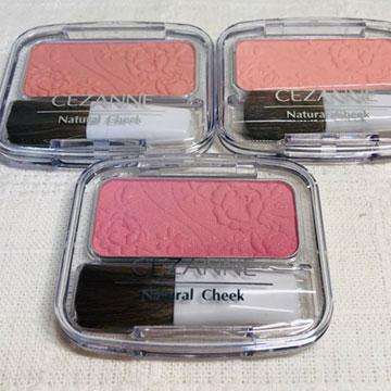 何色も欲しくなる♡セザンヌのナチュラルチークNで人気のピンク系3色を比べてみた