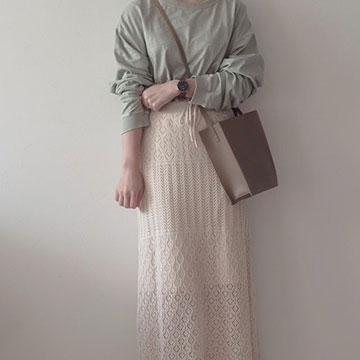 クロシェ編みニットスカートは着心地抜群♡休日や在宅勤務でも楽ちんなコーデ5選