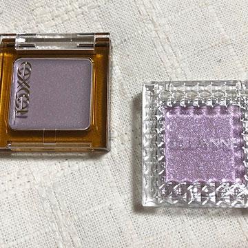 【セザンヌvsエクセル】 透明感が欲しいならこれ♡プチプラの単色パープルアイシャドウを徹底比較!