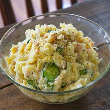 """マヨネーズの代用品""""すしのこ""""で脂質&カロリーオフの簡単サラダレシピ"""