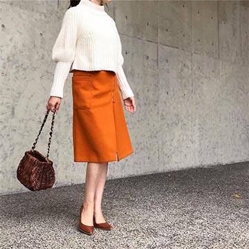 40代からの着痩せ秋コーデ!サイズ感と色選びがポイント♡