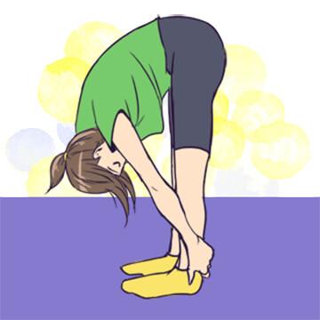 おうちでできる簡単なヨガ「足と手のポーズ」