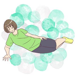 毎日たった1分間で体をシェイプアップ!体幹~サイドリフト~