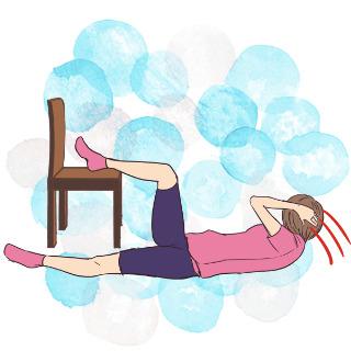 2週間でくびれを作るエクササイズ③椅子を使ってウエスト
