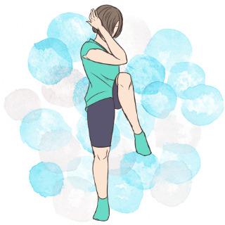 2週間でくびれを作るエクササイズ⑥立って脇腹エクササイズ