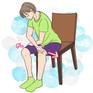 椅子を使って背中を鍛える「シーテッドバックエクステンション」
