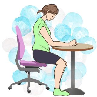 学校や会社でもできるエクササイズ「字を書く時の正しい姿勢」