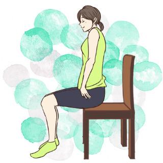 学校や会社でもできるエクササイズ「椅子に座って肩のストレッチ」