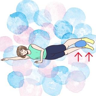 横になって5分だけダイエット!しぶとい内ももを引き締める方法